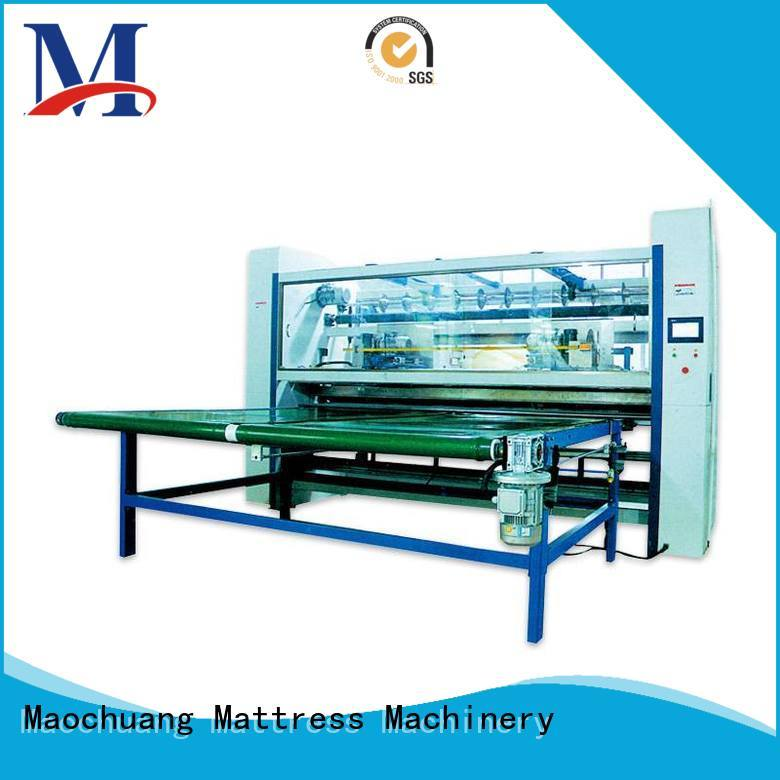 Maochuang Mattress Machinery cutting mattress cutting machine to facilitate the collection of manual labor for the quilted fabric cross-cutting