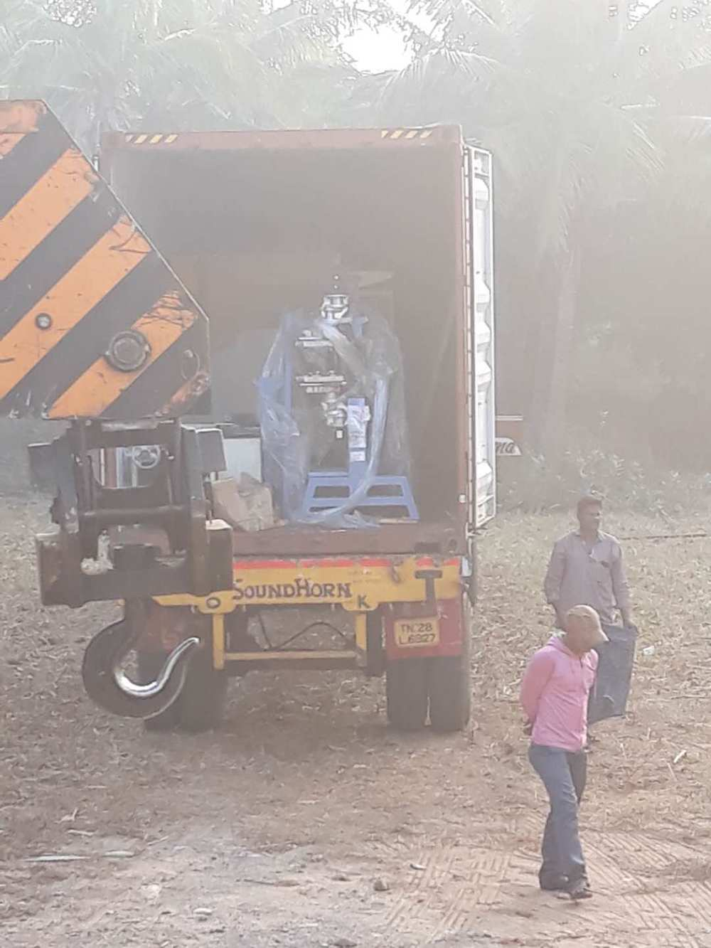 In October 2017 year, a spring machine was sold to customers in India